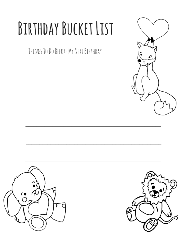 Birthday Bucket List- Mama Without A Plan